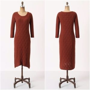 Sparrow cabled heaven cable knit sweater dress